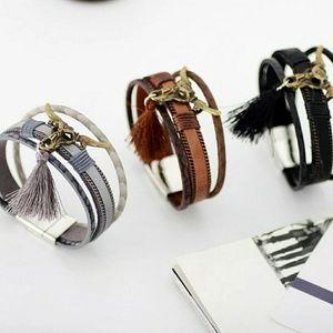 Leather Longhorn Bracelet